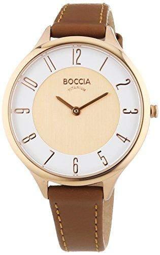 Boccia Damen-Armbanduhr Analog Quarz Leder 3240-03