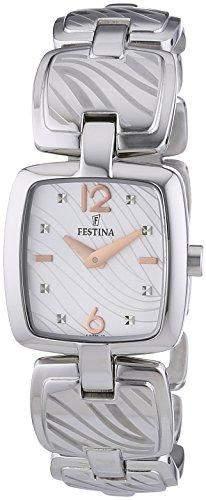 Festina Damen-Armbanduhr XS Analog Quarz Edelstahl F165952
