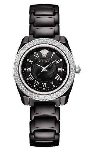 Versace Damen-Armbanduhr Analog Keramik Schwarz 63QCS91D009SC09