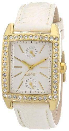 Esprit Damen-Armbanduhr Analog Quarz Leder