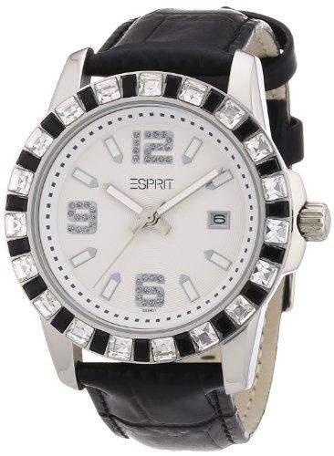 Esprit Damen-Armbanduhr Analog Quarz Leder AES103342006