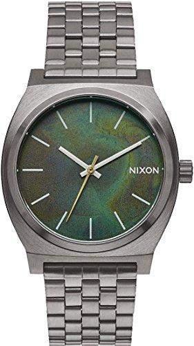 Nixon Time Teller 37mm Gunmetal-Green Oxyde Armbanduhren Unisex