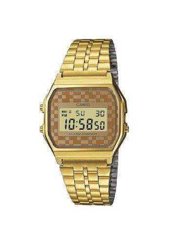 Casio Unisex-Armbanduhr Collection Digital Quarz Edelstahl A159WGEA-9AEF
