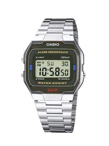 Casio Herren Armbanduhr Collection Digital Quarz A163Wa-1Qes