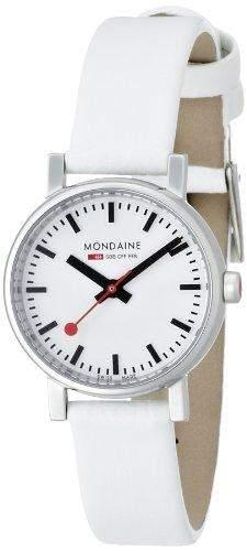 Mondaine Damen-Armbanduhr XS Evo Analog Quarz Leder A6583030111SBN