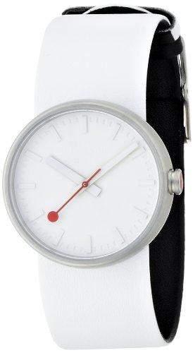 MONDAINE Damen-Armbanduhr Mondaine Bold White Analog Leder Weiss A6583030616SBA