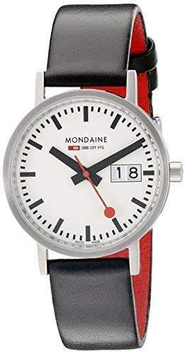 Mondaine Damen-Armbanduhr XS New Classic Analog Quarz Leder A6693000816SBO