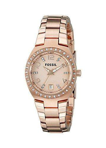 Fossil Damen-Armbanduhr XS Analog Quarz Edelstahl AM4508