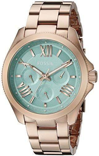 Fossil Damen-Armbanduhr Analog Quarz Edelstahl AM4540