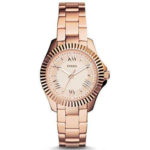 Fossil Damen-Armbanduhr XS Analog Quarz Edelstahl beschichtet AM4611