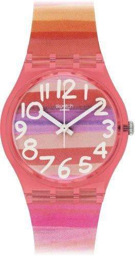 Swatch Damen-Armbanduhr XS Astilbe Analog Quarz Plastik GP140