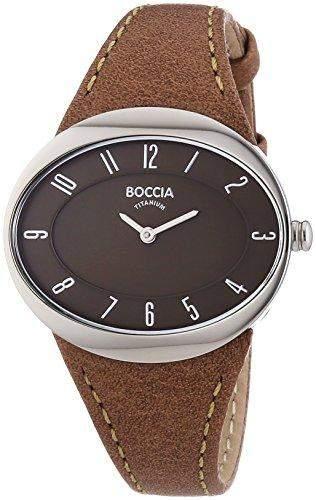 Boccia Damen-Armbanduhr Analog Quarz Leder 3165-16