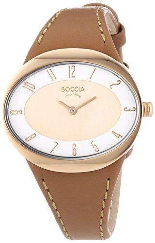 Boccia Damen-Armbanduhr Analog Quarz Leder 3165-18
