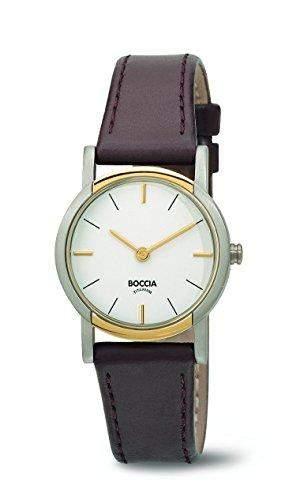 Boccia Damen-Armbanduhr Analog Quarz Leder 3247-02
