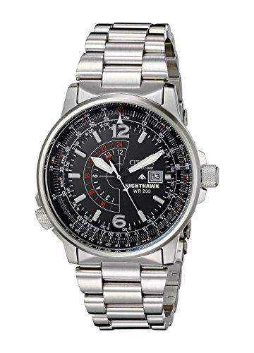 CITIZEN NIGHTHAWK MENS STAINLESS STEEL CASE DATE UHR BJ7000-52E