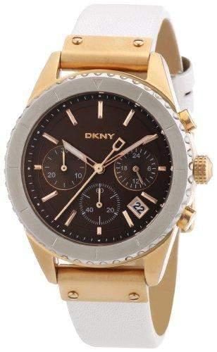 DKNY Damen-Armbanduhr Analog Quarz Edelstahl beschichtet NY8516