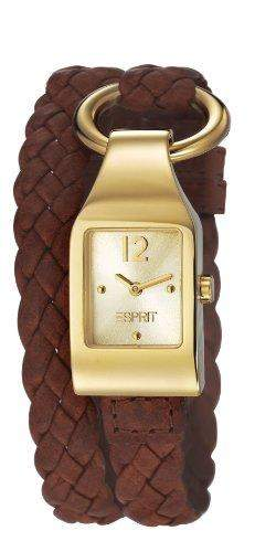 Esprit Damen-Armbanduhr buckle up Analog Quarz Leder ES106182004