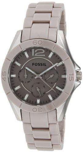 Fossil Damen-Armbanduhr Riley Ceramic Analog Quarz CE1065