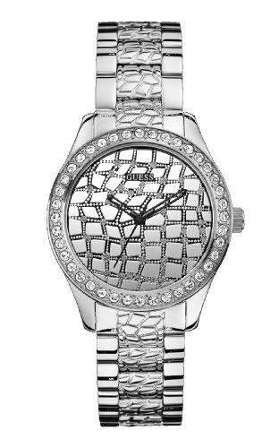 Guess Damen-Armbanduhr Analog Quarz Edelstahl W0236L1