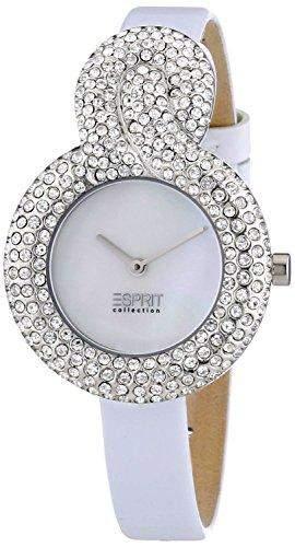 Esprit Collection Damen-Armbanduhr XS Danae White Analog Quarz Leder EL101182F02