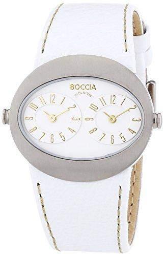 Boccia Damen-Armbanduhr Analog Quarz Leder 3211-01