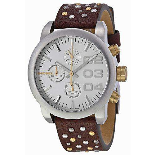 Diesel Holiday 2014 Damen 40mm Braun Leder Armband Edelstahl Gehaeuse Uhr dz5433
