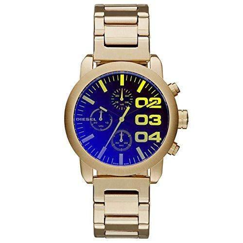 Diesel Damen 40mm Chronograph Gold Edelstahl Vergoldet Armband Uhr dz5467