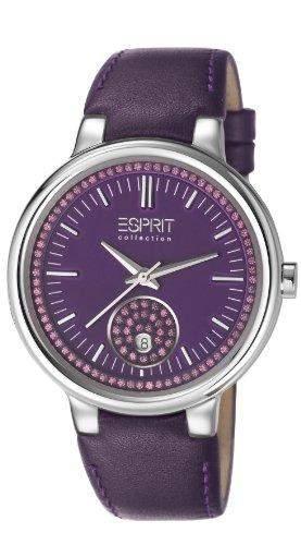 ESPRIT Collection Damen-Armbanduhr Maia Analog Quarz Leder EL101972F03