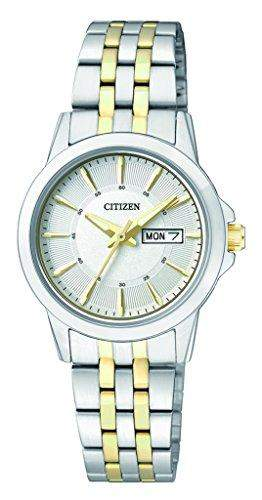 Citizen Damen-Armbanduhr Analog Quarz Edelstahl EQ0608-55AE