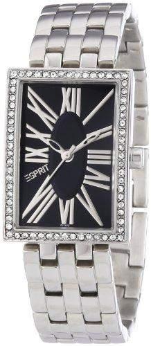 Esprit Damen-Armbanduhr Splendid Roman Black Analog Edelstahl ES101742002
