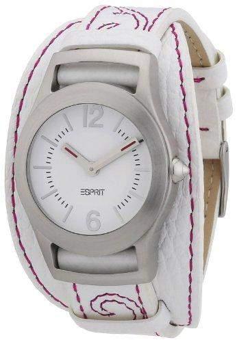 Esprit Damen-Armbanduhr applique Analog Quarz Leder ES104802003