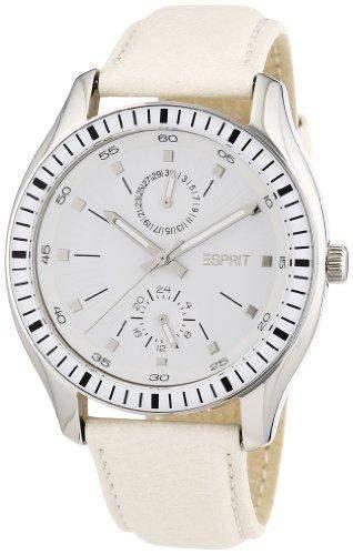 Esprit Damen-Armbanduhr 304 STAINLESS STEEL Analog Quarz Leder AES105632002