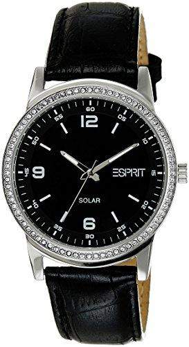 Esprit Damen-Armbanduhr XL Solara Analog Quarz Leder ES105652001