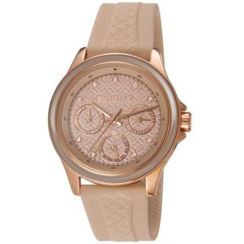 Esprit Damen-Armbanduhr Clara Rose Analog Quarz Resin ES106822004