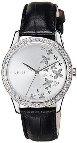 Esprit Damen-Armbanduhr Daisy Analog Quarz Leder ES107302001
