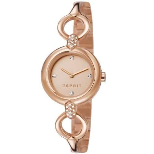 Esprit Damen-Armbanduhr XS Analog Quarz Edelstahl beschichtet ES107332002