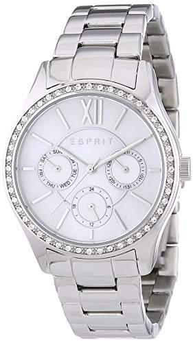 Esprit Damen-Armbanduhr Paige Analog Quarz Edelstahl ES107782001