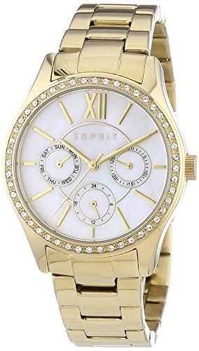 Esprit Damen-Armbanduhr Paige Analog Quarz Edelstahl beschichtet ES107782002