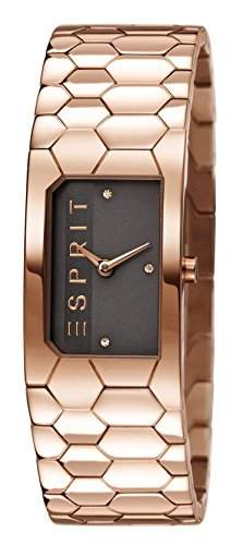Esprit Damen-Armbanduhr Houston Hexa Analog Quarz Edelstahl beschichtet ES107882003