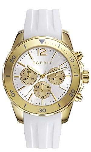 Esprit Haylee Women- Armbanduhr Analog Quarz Silikon weiss ES108262002