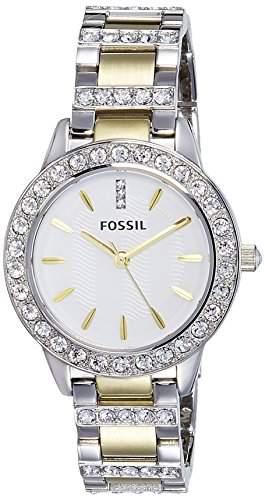 Fossil Damen-Armbanduhr XS Analog Quarz Edelstahl ES2409