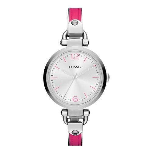 Fossil Damen-Armbanduhr Retro Traveler Analog Quarz Plastik ES3258