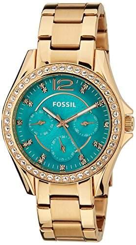 Fossil Damen-Armbanduhr Analog Quarz Edelstahl ES3385