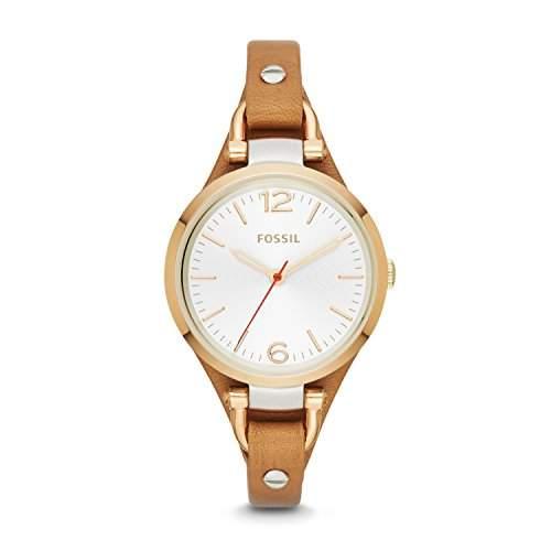 Fossil Damen-Armbanduhr Analog Quarz Leder ES3565