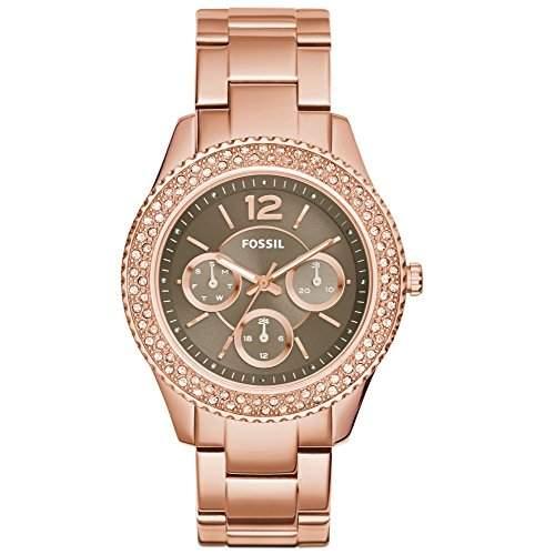 Fossil ES3863 STELLA Uhr Damenuhr vergoldet vergoldet 50m Analog Datum rosé