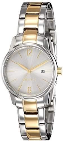 Esprit Damen-Armbanduhr ES-ABBIE TWO TONE GOLD Analog Quarz Edelstahl ES100S62015