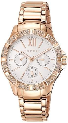 Esprit Damen-Armbanduhr ES-ALYCIA ROSE GOLD Analog Quarz Edelstahl beschichtet ES108472003