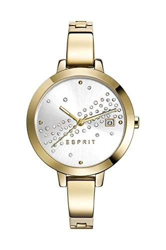Esprit Damen-Armbanduhr ES-AMELIA DAZZLE GOLD Analog Quarz Edelstahl beschichtet ES108482003