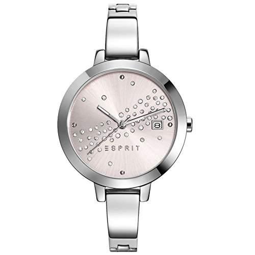 Esprit Damen-Armbanduhr ES-AMELIA DAZZLE SILVER Analog Quarz Edelstahl ES108482001