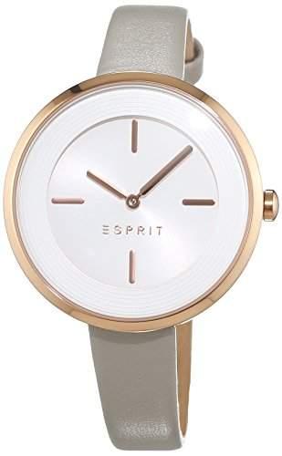 Esprit Damen-Armbanduhr ES-MADELYN TAUPE Analog Quarz Leder ES108572003